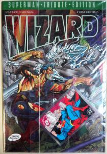 WIZARD Death of Superman Tribute Edition w/ exclusive card Doomsday 1993UNOPENED