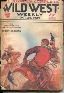 Wild West Weekly 10/26/1929-Whistlin' Kid-Circle J story-lower grade-FR