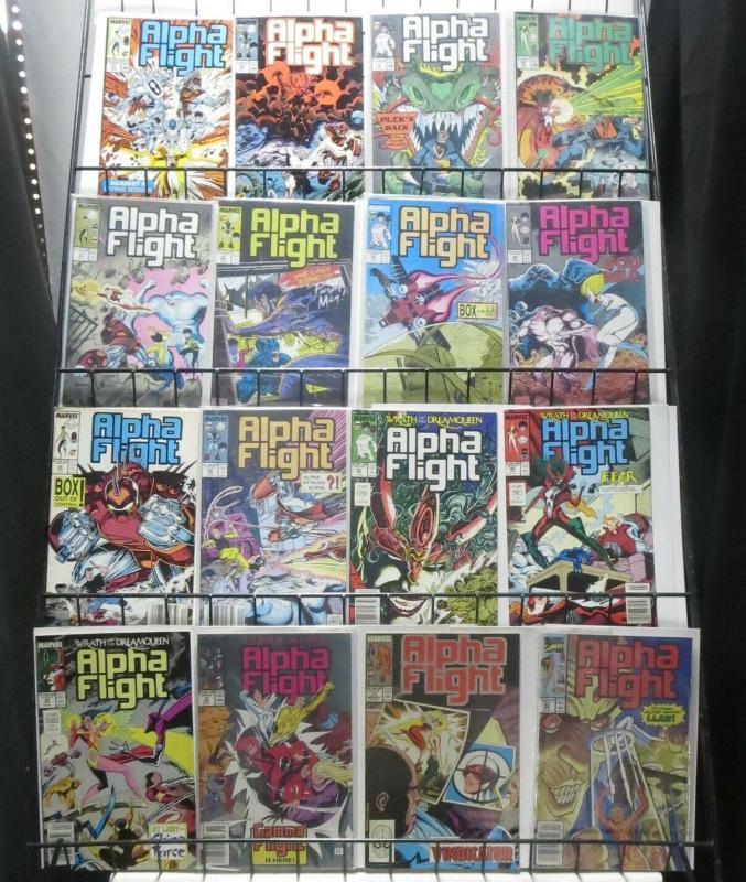 ALPHA FLIGHT MASSIVE COLLECTION! 78 ISSUES!  Marvel 1983! John Byrne! Jim Lee