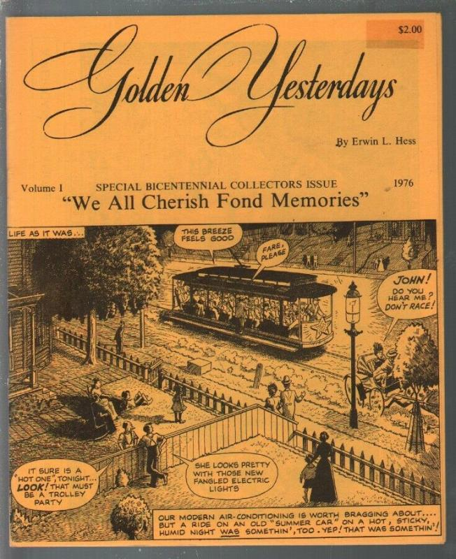 Golden Yesterdays #1 1976-1st issue-Good Old Days comic strip reprint-Hess-VF-