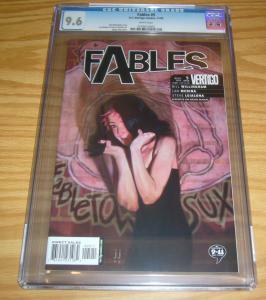 Fables #5 CGC 9.6 bill willingham - vertigo comics - james jean cover 2002