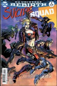 SUICIDE SQUAD #2, NM, Jim Lee, Rebirth, 2016, more Harley Quinn in store