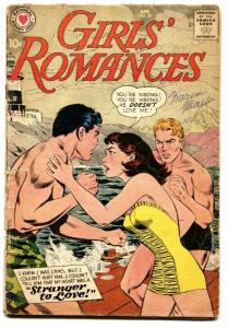 GIRLS' ROMANCES #59 comic book 1959-DC-SWIMSUIT COVER-STRANGER TO LOVE