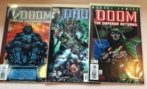 Doom The Emperor Returns 1-3 Complete Near Mint Lot Set Run