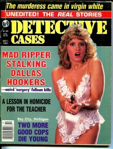 Detective Cases 10/1961-Globe-spicy gun moll-Mad Ripper-lingerie-VG