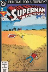 Superman: The Man of Steel #21, VF+ (Stock photo)