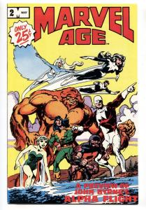 Marvel Age #2 comic book 1983-Marvel-Alpha Flight preview
