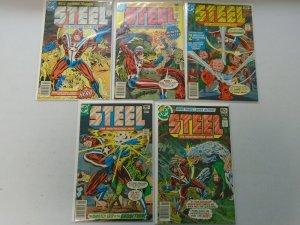 Steel the Indestructible Man set #1-5 4.0 VG (1978)