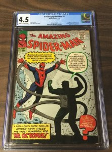 Amazing Spider-man 3 Cgc 4.5 Cream Off White Pages 1st First Doctor Dr. Octopus