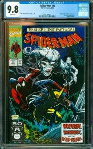Spider-Man #10 CGC Graded 9.8 Wolverine & Wendigo appearance. Wolverine retur...