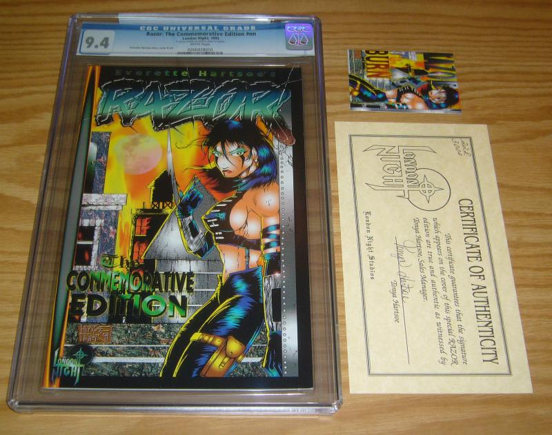 Razor: the Commemorative Edition CGC 9.4 signed everette hartsoe w/ COA (3,000)