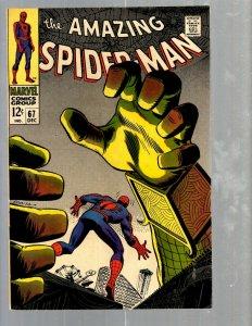 Amazing Spider-Man # 67 VF- Marvel Comic Book MJ Vulture Goblin Scorpion TJ1