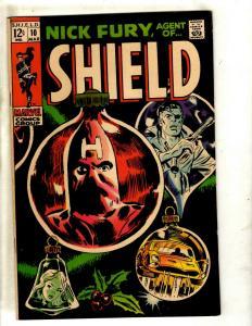 Nick Fury Agent Of Shield # 10 VF Marvel Comic Book Avengers Steranko Cov JF23