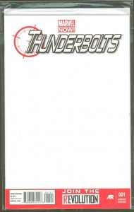 Thunderbolts #1 Blank Sketch Cover