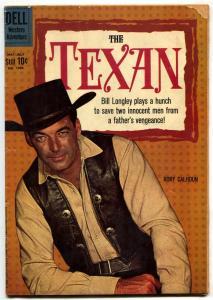 The Texan-Four Color #1096 1960-DELL-RORY CALHOUN-WESTERN-TV SERIES VG-
