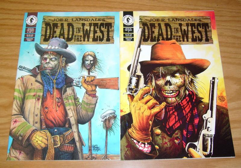 Joe R. Lansdale's Dead in the West #1-2 VF/NM complete series - tim truman set