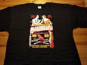 Vintage Style Marihuana T-Shirt XL NOS w/ Tags Impact