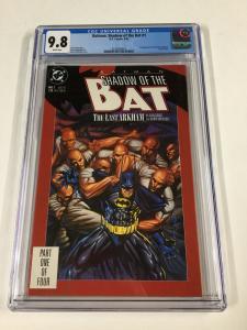 Batman Shadow Of Ghe Bat 1 Cgc 9.8 White Pages