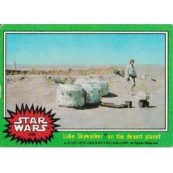 1977 Topps Star Wars LUKE SKYWALKER ON THE DESERT PLANET #208 EX/MT