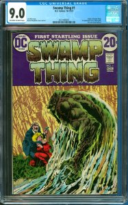 Swamp Thing #1 CGC Graded 9.0 1st Appearance of Lt. Matt Cable, Alec, and Lin...