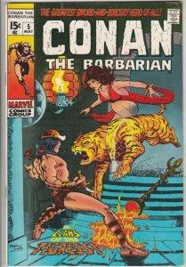 Conan the Barbarian #5 (May-71) VF/NM High-Grade Conan the Barbarian
