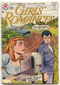 GIRLS' ROMANCES #47 1957-DC Romance-James Dean G