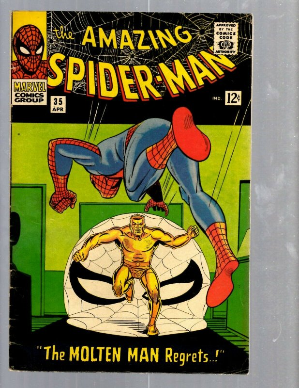 Amazing Spider-Man # 35 VF- Marvel Comic Book Lizard Vulture Goblin Scorpion TJ1