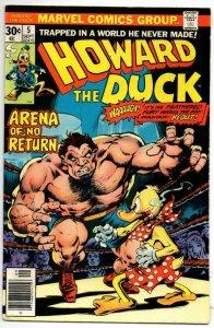 HOWARD THE DUCK #5, VF, Arena of No Return, Gerber, 1970, Bronze age