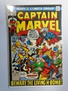 Captain Marvel (1st Series Marvel) #23,  Water Stain 4.0 (1972)