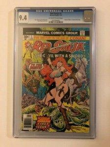 Marvel Comics RED SONJA #1 She-Devil 1977 Graded Comic CGC 9.4 Old Label
