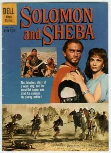 SOLOMON AND SHEBA  (1959  DELL) F.C.1070 VG+ PHOTO COVE COMICS BOOK