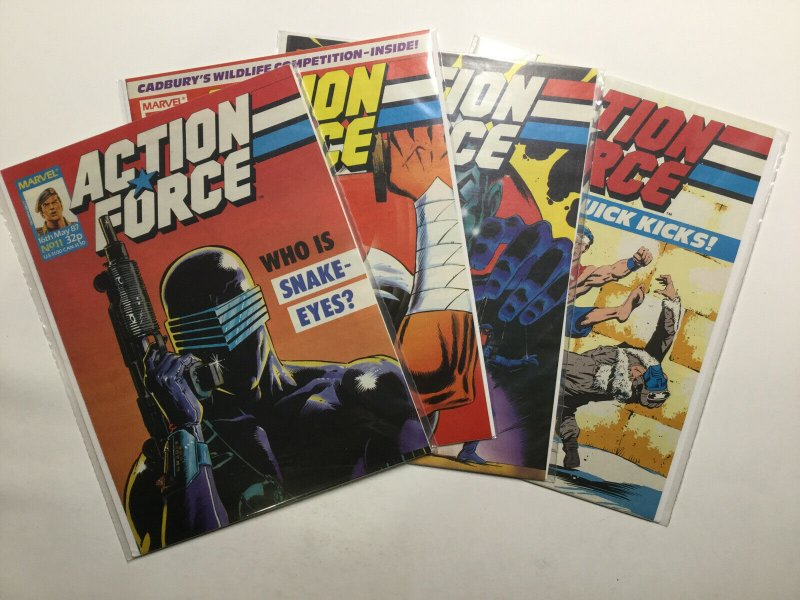 Action Force 11-15 11 12 13 14 15 Magazine Lot Set Run Near Mint Nm Marvel