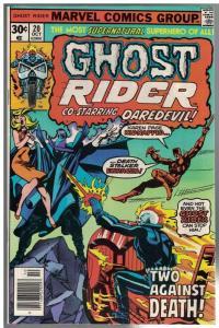 GHOST RIDER 20 VG-F Oct. 1976 John Byrne