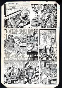 FIRESTORM #24-1984-RAFAEL KAYANAN-ORIGINAL ART-DC-1984-PG 21-RARE