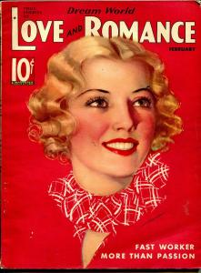 Dream World Love and Romance 2/1936-pin-up girl cover-Gloria Warren-spicy-FN