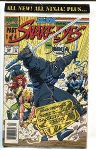 G.I. JOE #135 1995- late issue low print run- Snake Eyes NM-