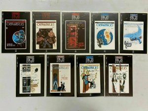 Cerebus High Society lot 9 different from #1-10 8.5 VF+ (1990 Aardvark-Vanaheim)