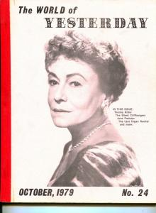 World of Yesterday  #24 10/1979-Thelma Ritter-Silent Cliffhangers Part 1-FN