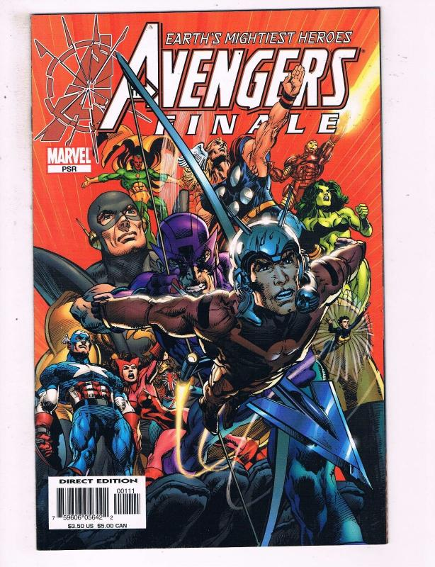Earths Mightiest Heroes Avengers Finale #PSR VF Marvel Comics Comic Book DE15