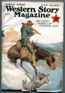 Western Story Magazine Pulp January 20 1923- Range Rider VG