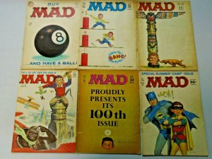 MAD Magazine 60's Lot From #81-131 13 Different (1963-1969)
