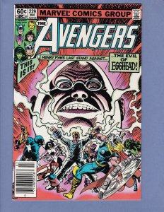 Avengers #229 VF/NM Death of Egghead Marvel 1983