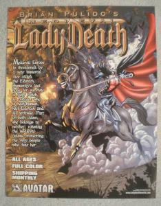 MEDIEVAL LADY DEATH Promo poster,  10x13, 2005, Unused, more Promos in store