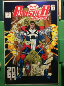 The Punisher 2099 #1 metallic cover