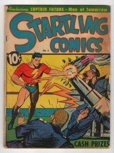 Startling Comics #5, VG(4.0), 1940, Better Publications, Cool War Cover!