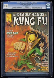 Deadly Hands of Kung Fu #19 CGC NM/M 9.8 White Pages 1st White Tiger!