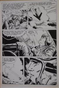 Original art, TIGER MIG alley, War, Recon, pg 5, 10.5x15.5, 1975, Jet fighter