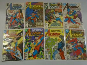 Action Comics lot 45 different from #584-640 6.0 FN (1987-89)