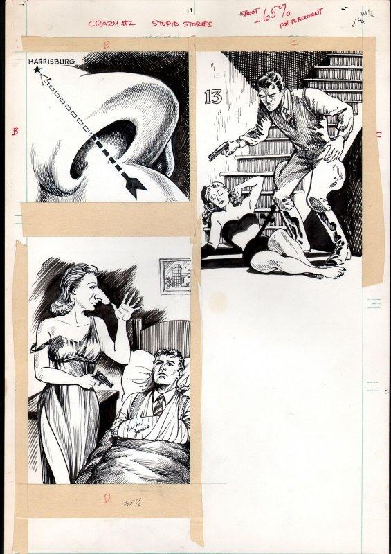 Crazy Magazine #12 Pages 43-44 Original Art- MARIE SEVERIN