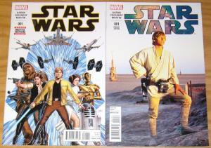 Star Wars #1 VF/NM new marvel comics + mark hamill movie photo variant (1:15)